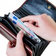 Wallet with euro bills — Stock Photo #59166301
