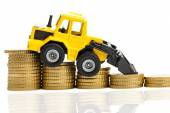 Falling yields in the construction industry — Stock Photo
