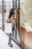 While shopping woman — Stock Photo