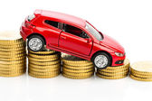 Declining profits in the car trade — Stock Photo