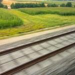 Rails of railroad. train — Stock Photo #59181579