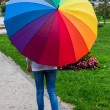 Woman with umbrella — Stock Photo #59184895