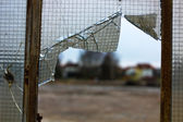 Damaged glass — Stock Photo