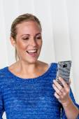 Woman enjoying sms — Stock Photo