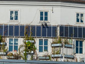 Solar panels on a house — Stock Photo