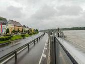 Flood in 2013, mauthausen, austria — Stock Photo