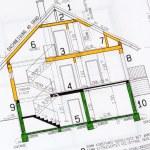 A house plan — Stock Photo #59253799