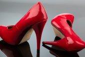 Red high heels — Stock Photo