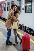 Arrival by train — ストック写真