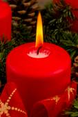 Advent wreath for christmas — Stock Photo