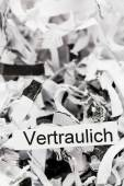 Shredded paper keyword confidential — Stock Photo