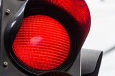 Traffic light with red light — Stock Photo