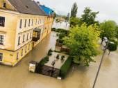 Flood 2013 linz, austria — Stock Photo