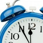 Alarm clock on white background — Stock Photo #59913359