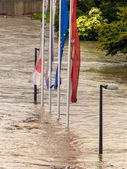 Flood 2013 linz, austria — Stock Photo