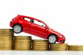 Falling profits in the motor trade — Stock Photo