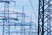 Current keys of a high-voltage line — Stok fotoğraf
