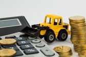 Cost accounting in the construction industry — Stock Photo
