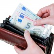 Wallet with euro bills — Stock Photo #61470367
