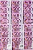Пятьсот евро банкноты — Стоковое фото