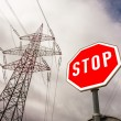 Power line and stop sign — Stock Photo #61496455