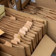 Cardboard boxes for the collection of waste paper — Stock Photo #61496641