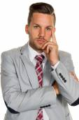 Pensive manager — Stock Photo