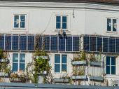 Solar panels on a house — Stock Photo