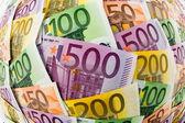 Many euro banknotes — Stock Photo