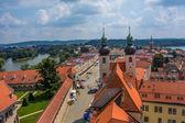 Czech republic telc, town square — Stock Photo