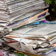 Stack of waste paper. old newspapers — Stok fotoğraf #61501419