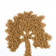 Tree of pellets for heating and heat — Stock Photo #61503213