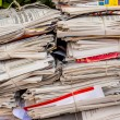 Stack of waste paper. old newspapers — 图库照片 #61503553