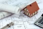 A house plan — Stock Photo