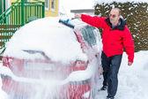Snowed car — Stock Photo