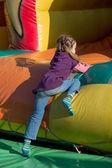 Bouncy castle on a folk festival — Stock Photo