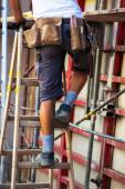 Construction worker on a job site — Stock Photo