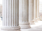 Columns at the parliament in vienna — Stock Photo