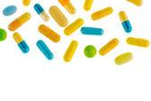 Tablets on a light background — Stock Photo