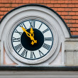 Clock at the town hall — Stock Photo #62001343