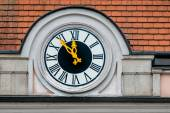 Clock at the town hall — Foto Stock