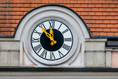 Clock at the town hall — Stock Photo