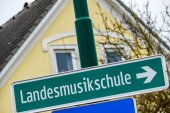 Landesmusikschule signs — Stock Photo