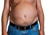 Man with overweight — Stock Photo