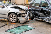 Damage to the bodywork of cars — Stock Photo