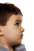 Little boy looks uncertain — Stock Photo