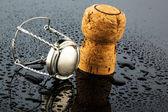 шампанского пробки и застежкой — Стоковое фото