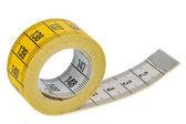 Yellow tape measure — Stock Photo
