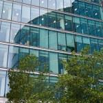 Facade of a modern office building london — Stock Photo #63063497