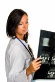 Woman doctor with x-ray image — Stock Photo